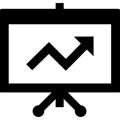 Icono de una gráfica (económica-financiera)